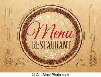 Menu restaurant lettering kraft - Menu restaurant lettering...