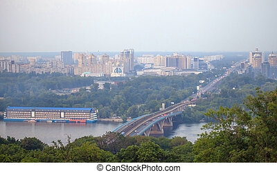 Left bank of the Dnieper river in K