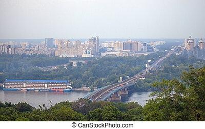 Left bank of the Dnieper river in K