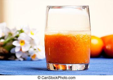 laranja, smoothie
