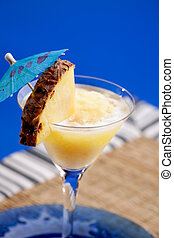 Pina Colada - A pineapple pina colada smothie isolated over...