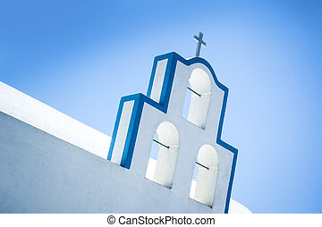 Santorini church - An image of a nice Santorini church