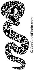 Snake Tattoo 01 - black illustration