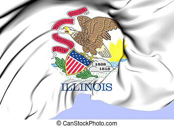 Flag of Illinois, USA.