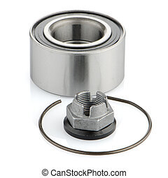 Steel bearing to the vehicle on a white background