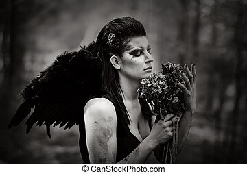 Fallen angel - Fantasy image with a fallen angel