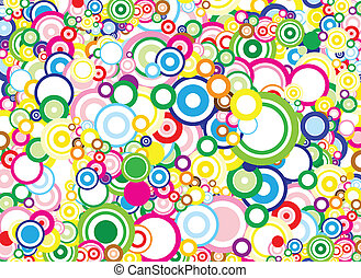 Vivid circles background - Lot of vivid circles - background...
