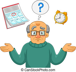 confused old man - Old man feeling confused and forgetful