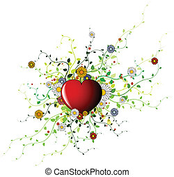 Valentines spring background - Valentines background with...