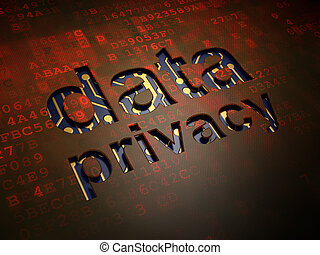 Privacy concept: Data Privacy on digital screen background -...