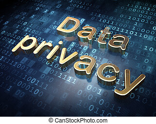 Security concept: Golden Data Privacy on digital background,...