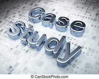 Education concept: Silver Case Study on digital background