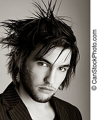 HairStyle - Good looking young man with modern HairStyle -...