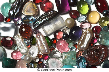 Semi-precious stones - Close-up of semi-precious stones.