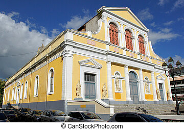 Basilica of Pointe-a-Pitre, Guadeloupe, Caribbean - Historic...