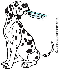 cartoon dalmatian - cartoon dog dalmatian breed, picture...