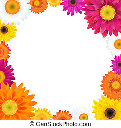 Gerbers Frame, With Gradient Mesh, Vector Illustration