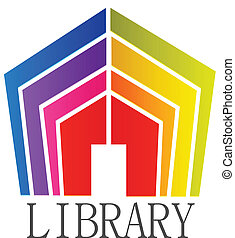 Library books logo