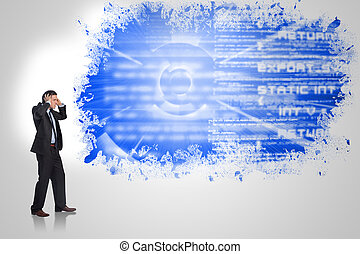 Composite image of stressed busines - Stressed businessman...