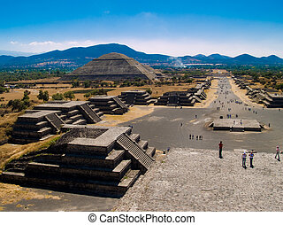 Teotihuacan Pyramids - The Avenue of the Dead and...