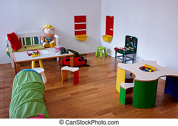 Modern play children's room - Colorful modern play...