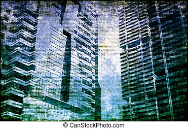 Economic Crisis World Abstract Background As Art