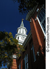 City Hall tower in Alexandria, Virginia