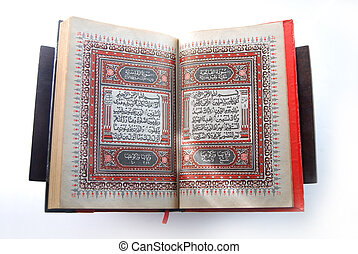 The holy koran - the holy book of moslem, degraded through...