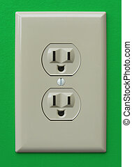 Happy Electricity - A electric wall outlet with a happy face...