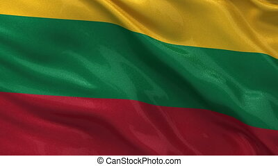 Flag of Lithuania - seamless loop - Flag of Lithuania gently...