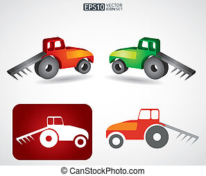 Tractor icon - agriculture concept