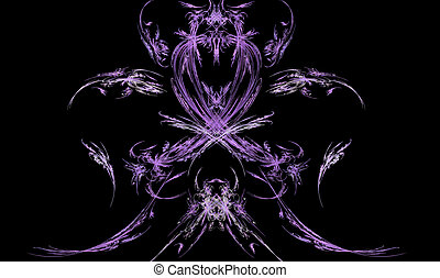 Fractal Demon or Spirit - Purple fractal spirit design with...