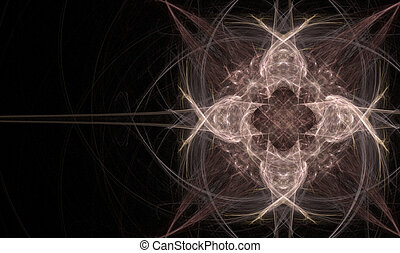 Celtic Cross Like Fractal - Fractal flame fancy celtic like...