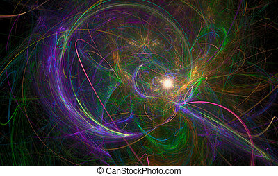 Fractal Nebula - Combined fractal flames that evoke the...
