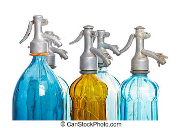 Soda bottles - Recyclable soda bottles on isolated white...