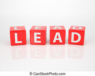 Lead out of red Letter Dices - The Word Lead out of red...