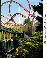 train to rollercoaster
