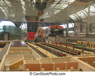 miniature train station