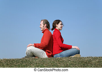 couple on meadow