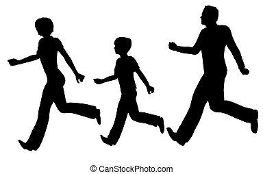 running family vector