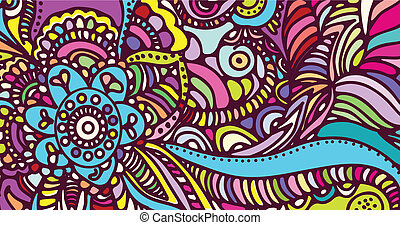 abstract vector pattern of a tattoo henna - illustration of...