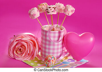 pink marshmallow pops for valentine - pink marshmallow pops...
