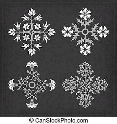 Set of vector ornaments.
