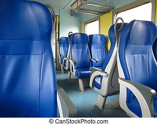 train seats empty useful as travel concept