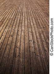 Old wooden floor - Old and rust grunge wooden plank as...