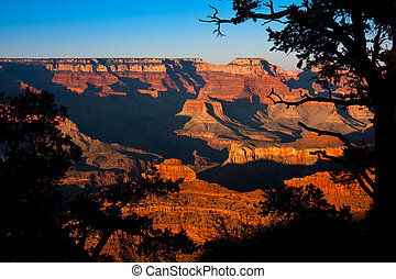 Grand Canyon - Beautiful red colors of the Grand Canyon at...