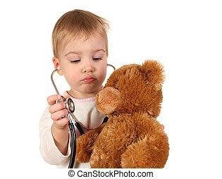 csecsemő, Sztetoszkóp, játékszer