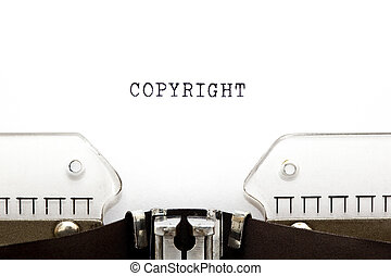 Copyright Typewriter - Copyright printed on an old...