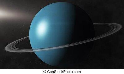 Planet Uranus - Beautiful 3d animation of The Planet Uranus...