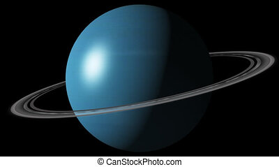 Planet Uranus - Beautiful 3d animation of The Planet Uranus...